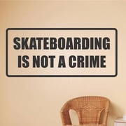 Design With Vinyl Skateboarding Is Not A Crime Wall Decal