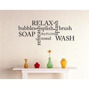 Design With Vinyl Bathroom Text Wall Decal