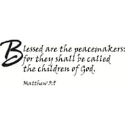 Design With Vinyl Blessed are the Peacemakers Wall Decal
