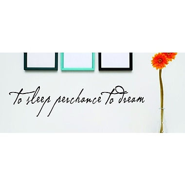 Design With Vinyl To Sleep Perchance to Dream Wall Decal