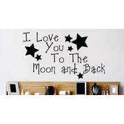 Design With Vinyl I Love You to the Moon and Back Nursery Rhyme Quote Wall Decal
