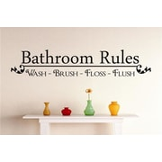 Design With Vinyl Bathroom Rules Wall Decal