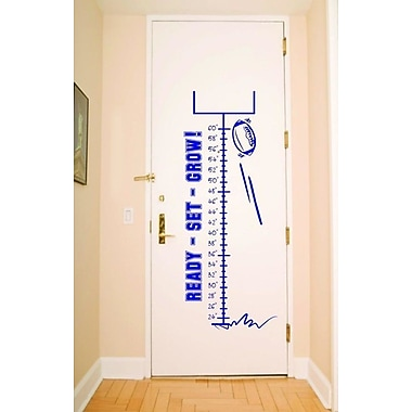Design With Vinyl Football Sport Measurement Growing Chart Wall Decal