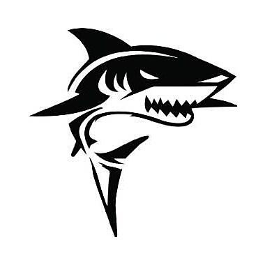 Design With Vinyl Shark Wall Decal