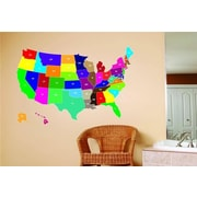 Design With Vinyl United States Map Wall Decal