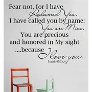 Design With Vinyl Isaiah Bible Verse Wall Decal