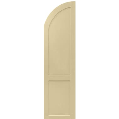 Shutters By Design Flat Panel Arch Top Shutter (Set of 2); 36'' H x 18'' W