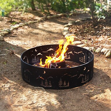 Corral Wilderness Steel Wood Burning Fire ring