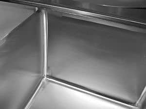 Advance Tabco 120'' x 29'' Triple Fabricated Bowl Scullery Sink