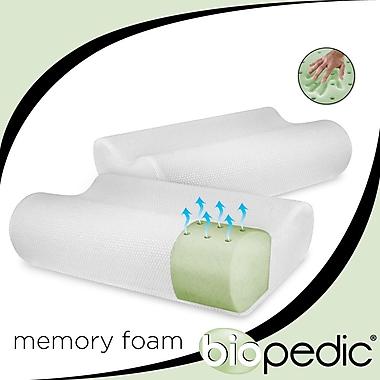 BioPEDIC Memory Foam Standard Pillow (Set of 2)