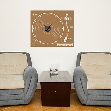 Style and Apply Turnable Wall Clock Wall Decal; Copper