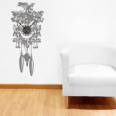 Style and Apply Cuckoo Wall Clock Wall Decal; Dark Gray