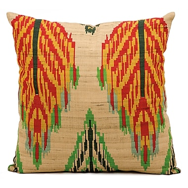 Kathy Ireland Home Gallery Escapade Brown/Red/Yellow Throw Pillow