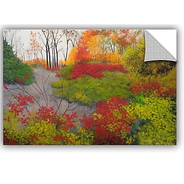 ArtWall Red Leaves Wall Mural; 32'' H x 48'' W x 0.1'' D
