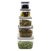 Imperial Home Plastic 5 Container Food Storage Set