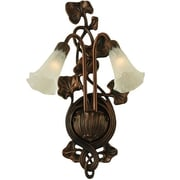 Meyda Tiffany 2 Light Pond Lily Wall Sconce; White