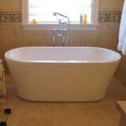 Aquatica PureScape 59'' x 27.5'' Freestanding Soaking Bathtub