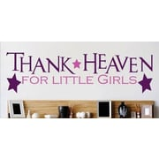 Design With Vinyl Thank Heaven For Little Girls Text Lettering Quote Wall Decal