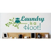 Design With Vinyl Laundry is a Hoot Quote Lettering Text Wall Decal