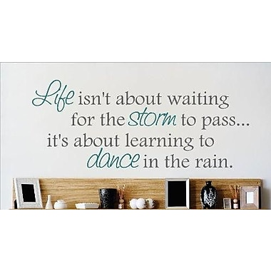 Design With Vinyl Learn to Dance in the Rain Wall Decal