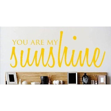 Design With Vinyl You are My Sunshine Love Life Song Quote Wall Decal