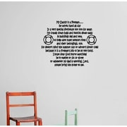 Design With Vinyl My Daddy is a Fireman Wall Decal