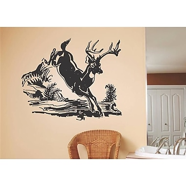 Design With Vinyl Deer Galloping Wall Decal