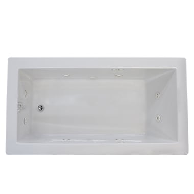 Spa Escapes Guadalupe 72'' x 42'' Rectangular Whirlpool Jetted Bathtub w/ Drain; Left