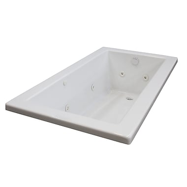 Spa Escapes Guadalupe 59.75'' x 41.5'' Rectangular Whirlpool Jetted Bathtub w/ Drain; Right