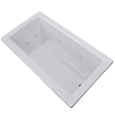 Spa Escapes Guadalupe 71.63'' x 32.5'' Rectangular Whirlpool Jetted Bathtub w/ Drain; Right