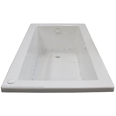 Spa Escapes Guadalupe 66'' x 36'' Rectangular Air Jetted Bathtub w/ Drain; Right