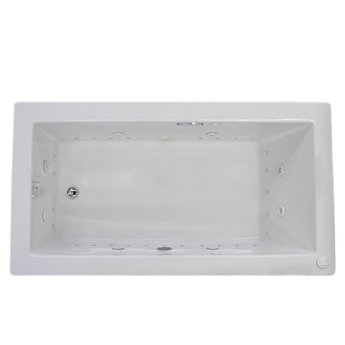 Spa Escapes Guadalupe 72'' x 36'' Rectangular Air & Whirlpool Jetted Bathtub w/ Drain; Left