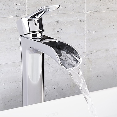 Vigo Niko Single Lever Vessel Bathroom Faucet; Chrome