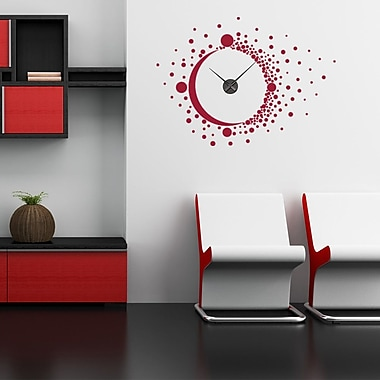 Style and Apply Big Bang Wall Clock Wall Decal; Turquoise