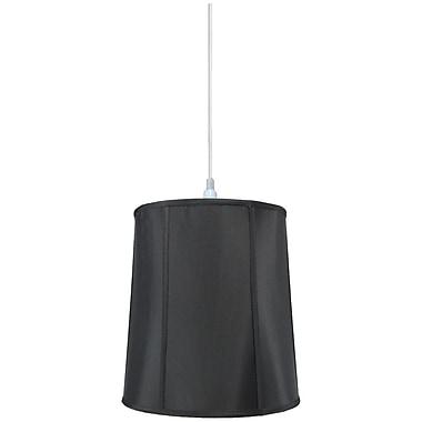 Home Concept 1-Light Drum Pendant; Black