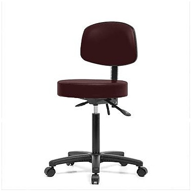 Perch Chairs & Stools Height Adjustable Doctor Stool; Burgundy Fabric