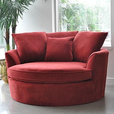 Red Barrel Studio Roquefort Cuddler Barrel Chair; Red