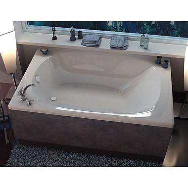 Spa Escapes St. Lucia 77.87'' x 47.5'' Drop In Soaking Bathtub