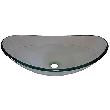 Novatto Chiaro Glass Oval Vessel Bathroom Sink