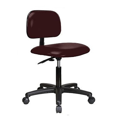 Perch Chairs & Stools Low-Back Desk Chair; Burgundy