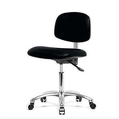 Perch Chairs & Stools Low-Back Desk Chair; Black Vinyl