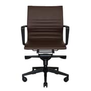 Wobi Office Bradley Mid-Back Desk Chair; Brown