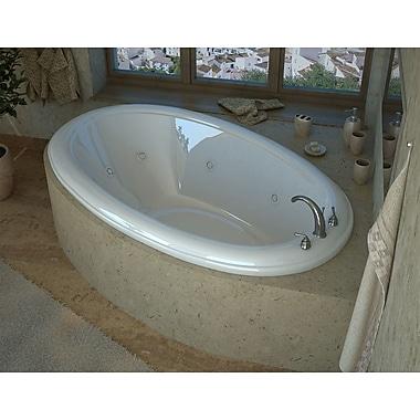 Spa Escapes Martinique 78'' x 44'' Oval Air & Whirlpool Jetted Bathtub w/ Center Drain