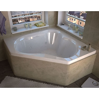 Spa Escapes Tobago 59.25'' x 59.25'' Corner Air & Whirlpool Jetted Bathtub w/ Center Drain