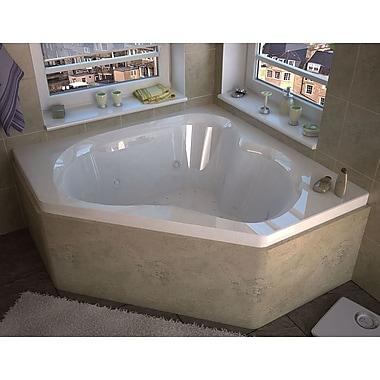 Spa Escapes Tobago 59.25'' x 59.25'' Corner Air Jetted Bathtub w/ Center Drain