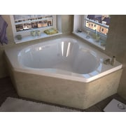 Spa Escapes Tobago Dream Suite 59.25'' x 59.25'' Corner Air & Whirlpool Jetted Bathtub