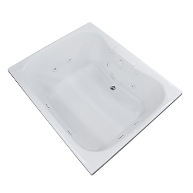 Spa Escapes Dominica 58'' x 40.5'' Rectangular Whirlpool Jetted Bathtub w/ Center Drain