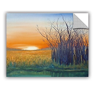 ArtWall Riverside Sunset Wall Mural; 24'' H x 32'' W x 0.1'' D