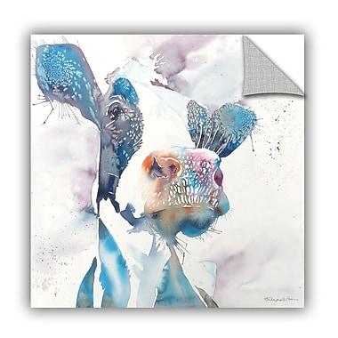 ArtWall Cow Canvas Wall Mural; 18'' H x 18'' W x 0.1'' D