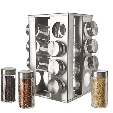 5th Ave Store Rotating 16 Jar Spice Jar & Rack Set